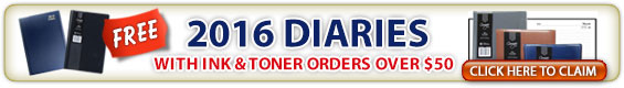 free 2106 diary with your ink and toner orders