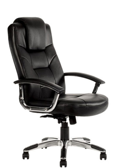 Inkman Com Au Fine Black Italian Leather Office Chair With