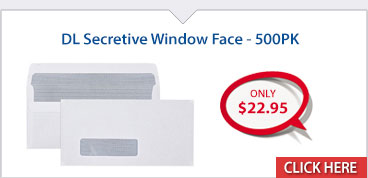 DL Secretive Window Face - 500PK